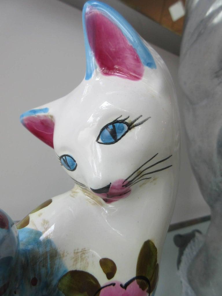 Vintage Italian Ceramic Cat 'Smaller' Handmade in Italy, Fornasetti Style 7