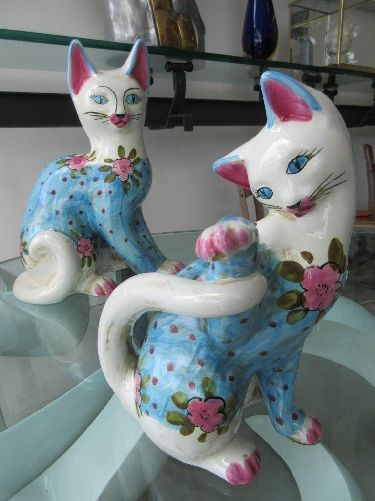 Vintage Italian Ceramic Cat 'Smaller' Handmade in Italy, Fornasetti Style 6