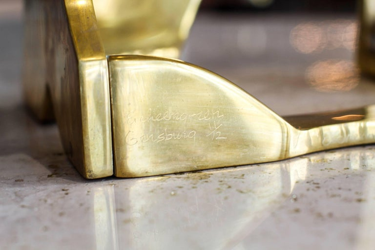 Modernist Brass Figural Sculpture by Arleen Eichengreen & Nancy Gensburg 4