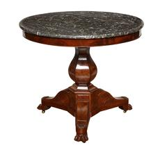 Charles X Style Marble-Top Gueridon