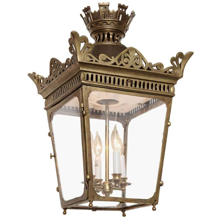 A French Empire Four-Light Bronze Lantern