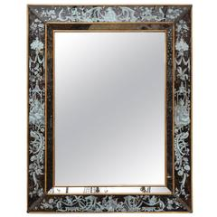 American Vertical Rectangular Reverse Glass Mirror