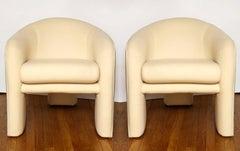 A Pair of Modern Club Chairs