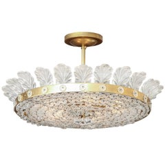 "The Decazes 23"" Beaded Flush-Mount Fixture"
