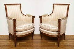 A Pair of Louis XVI Style Bergeres