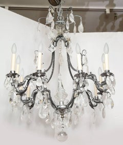 A Louis XV Style Silvered-Metal Chandelier
