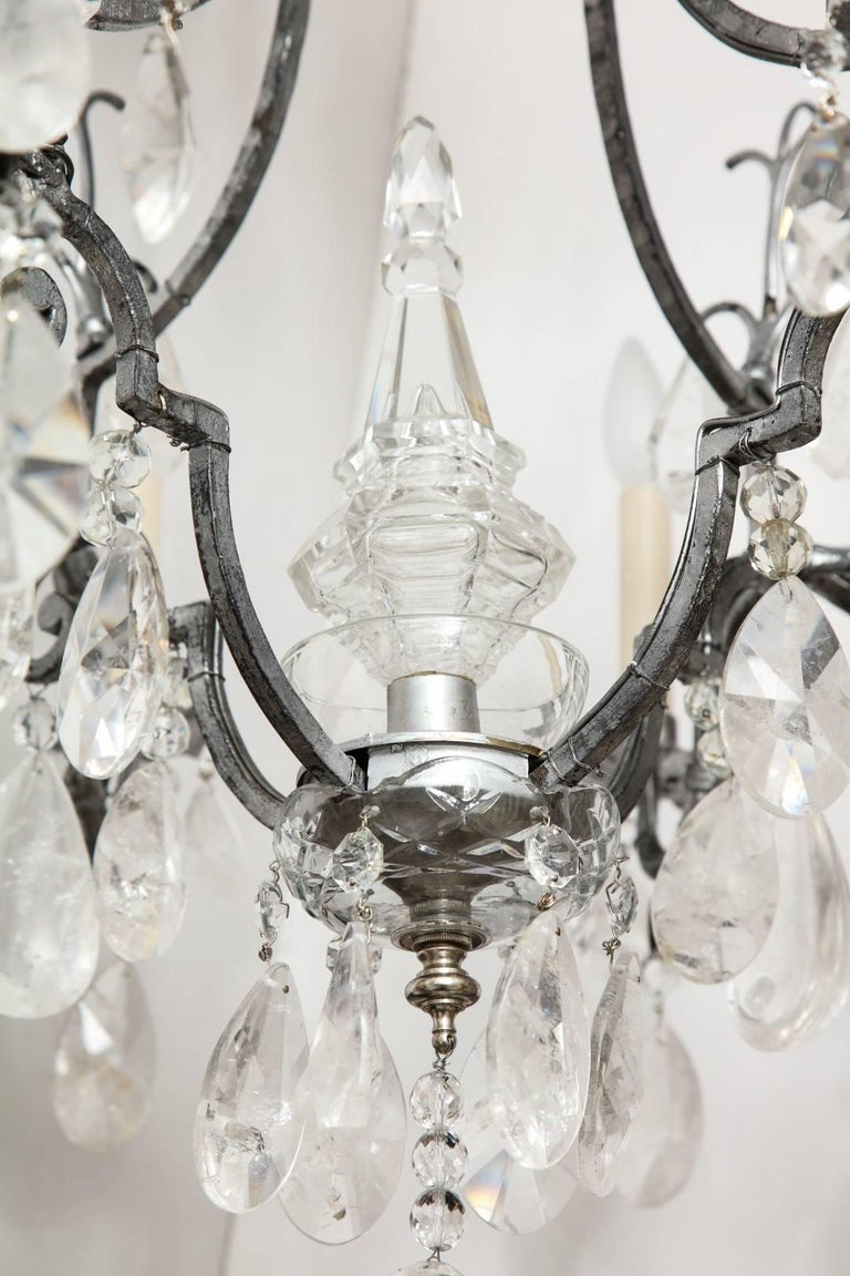 Louis XV Style Silvered-Metal Chandelier For Sale 2