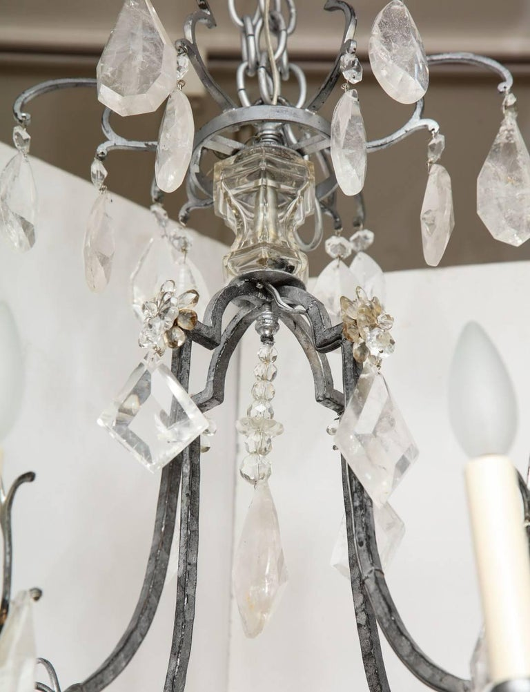Louis XV Style Silvered-Metal Chandelier For Sale 3