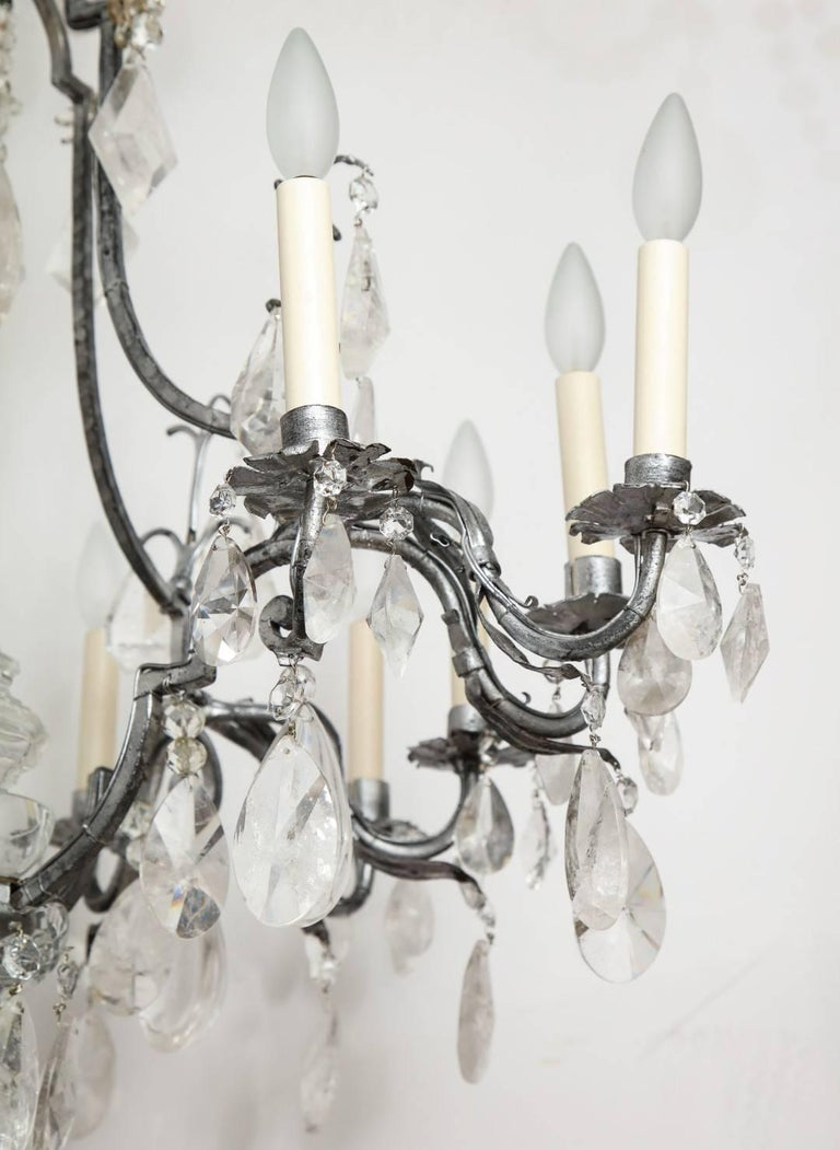 Louis XV Style Silvered-Metal Chandelier For Sale 4