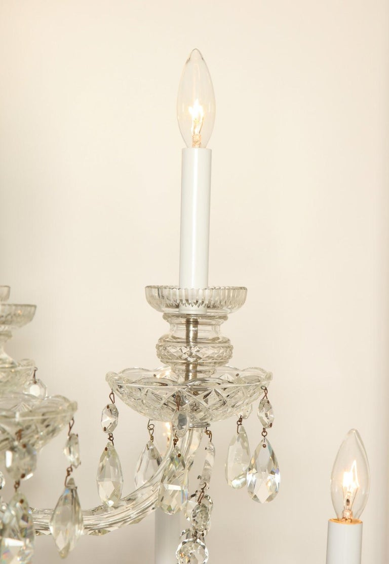 Georgian Style Cut Crystal Chandelier For Sale 1