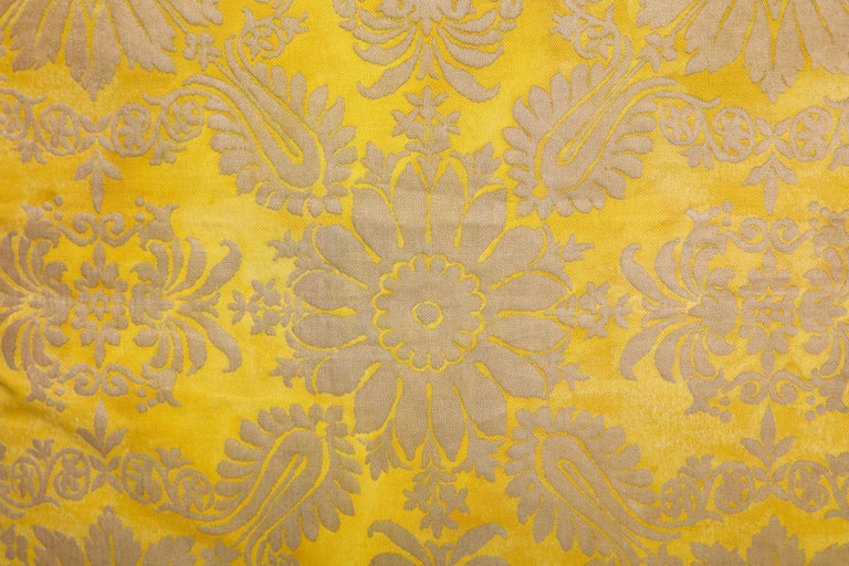 Empire Fortuny Fabric Cushions in the Impero Pattern For Sale