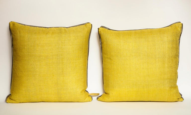 Contemporary Fortuny Fabric Cushions in the Impero Pattern For Sale