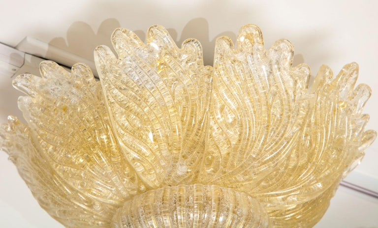 Glass Murano Ceiling Light For Sale