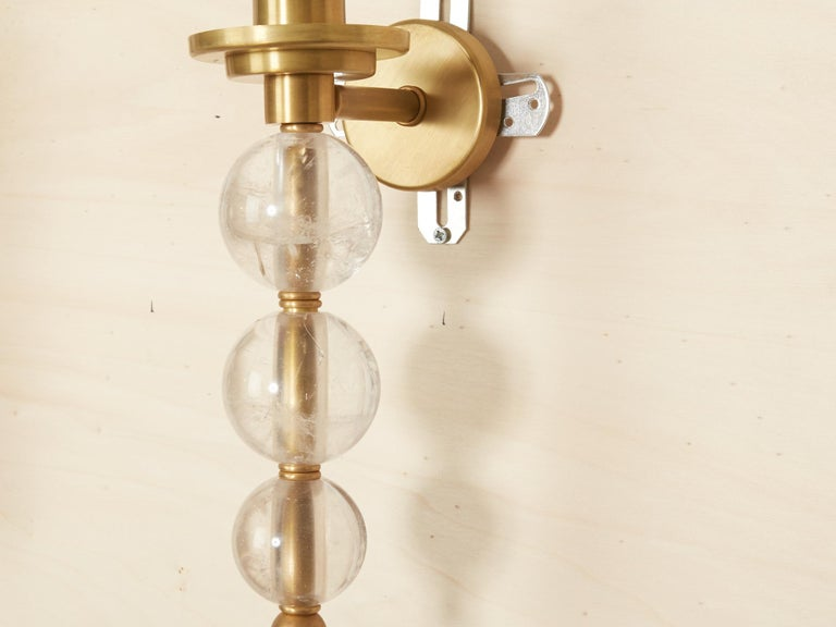 Rock Crystal Ephorus Sconces In New Condition For Sale In New York, NY