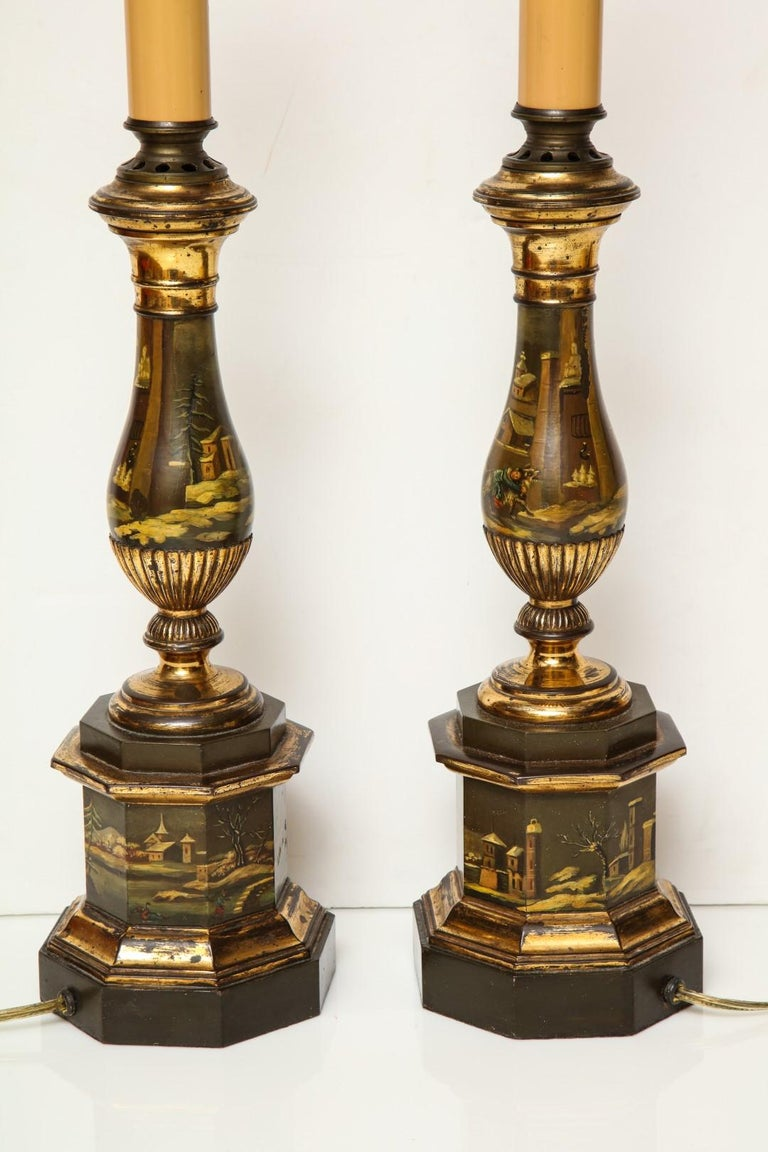 Tôle 19th Century Tole Lamps For Sale
