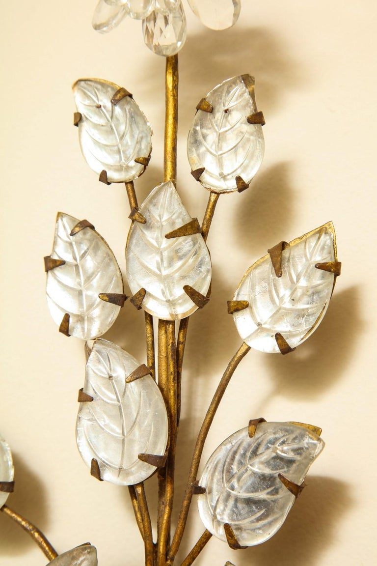 French Three-Light Gilt Metal Sconce For Sale