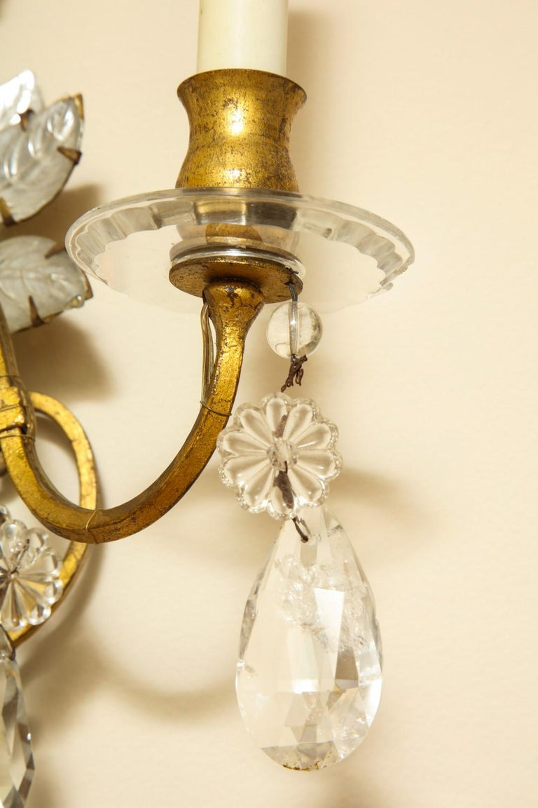 Three-Light Gilt Metal Sconce In Good Condition For Sale In New York, NY
