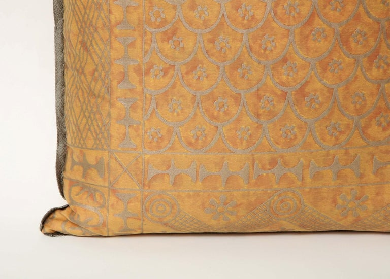 North American Fortuny Fabric Cushions in the Ashanti Pattern For Sale