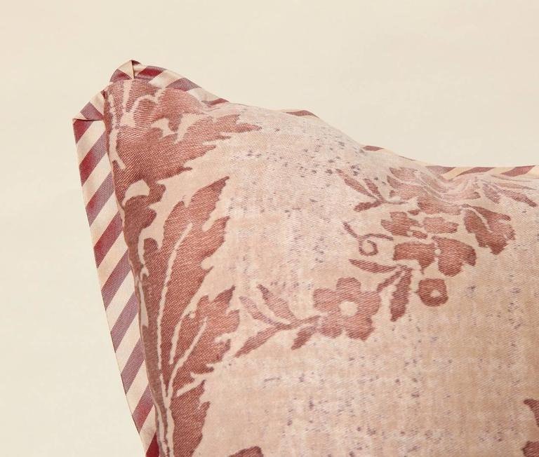 Pair of Vintage Fortuny Fabric Cushions in the Boucher Pattern 8