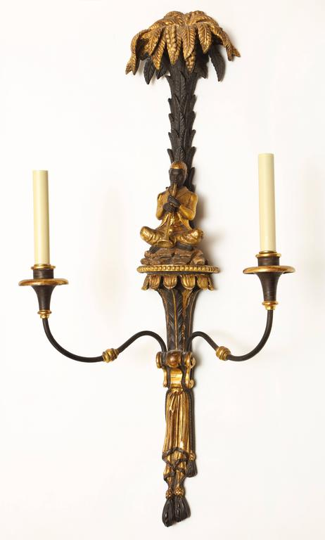 Wall Sconces Italian : Pair of Italian Two-Light Wall Sconces For Sale at 1stdibs