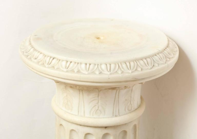 A Marble Corinthian Capital Architectural Pedestal For Sale 1
