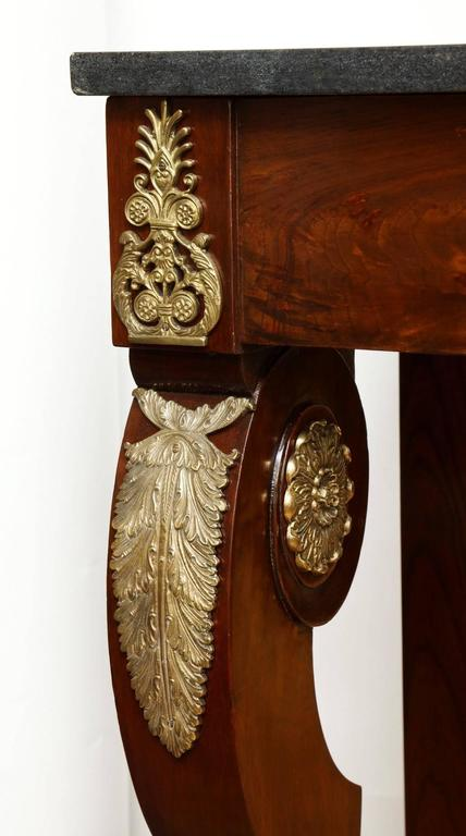 French An Empire Ormolu-Mounted Pier Console  For Sale