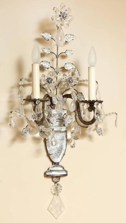 Louis XVI A Pair of Maison Bagues Two-Light Wall Sconces