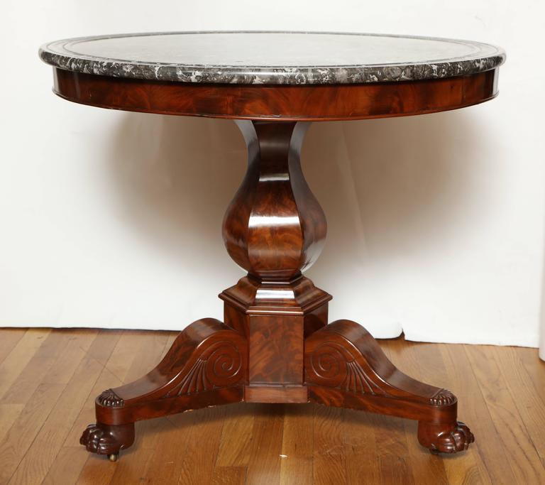 French Charles X Style Marble-Top Gueridon For Sale