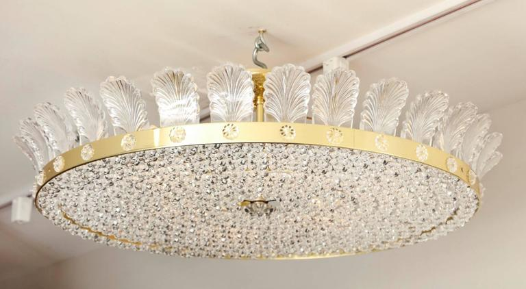 """The Decazes 31"""" Beaded Flush-Mounted Light Fixture In Excellent Condition For Sale In New York, NY"""