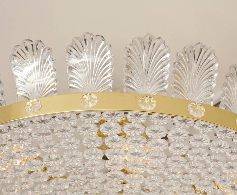 """Contemporary The Decazes 31"""" Beaded Flush-Mounted Light Fixture For Sale"""