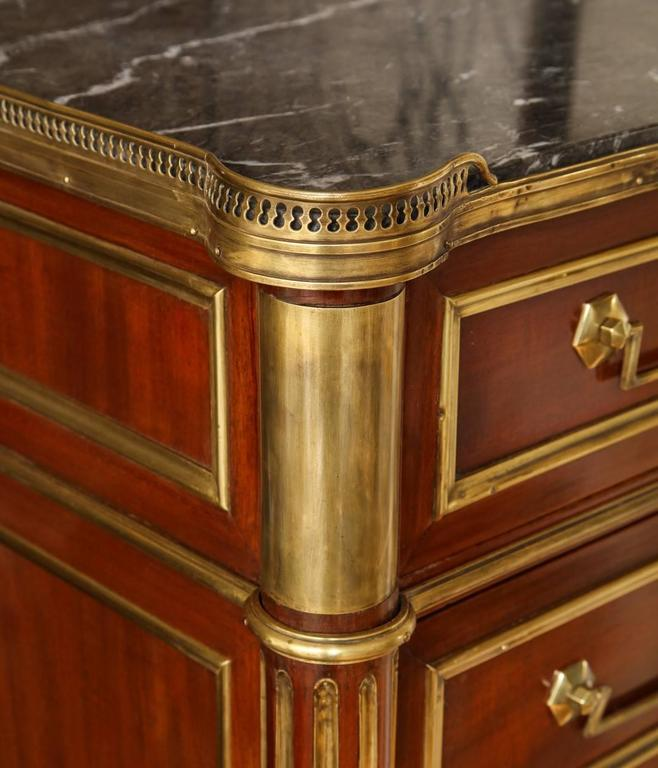 Louis XVI Style Brass Bound Mahogany Semainier For Sale 4