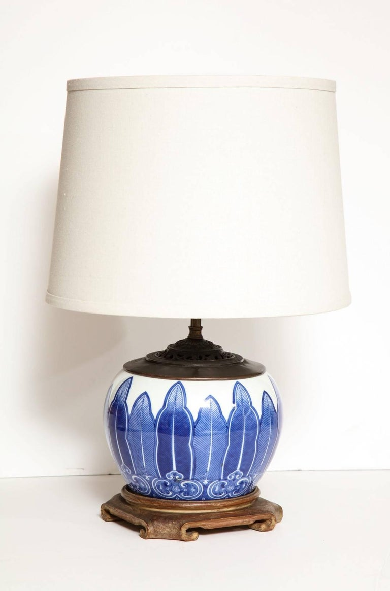 Chinese Porcelain Bowl Fitted as a Lamp 2
