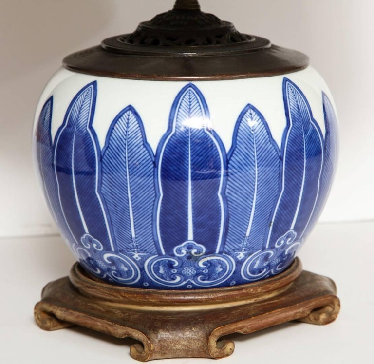 Chinese Porcelain Bowl Fitted as a Lamp 3