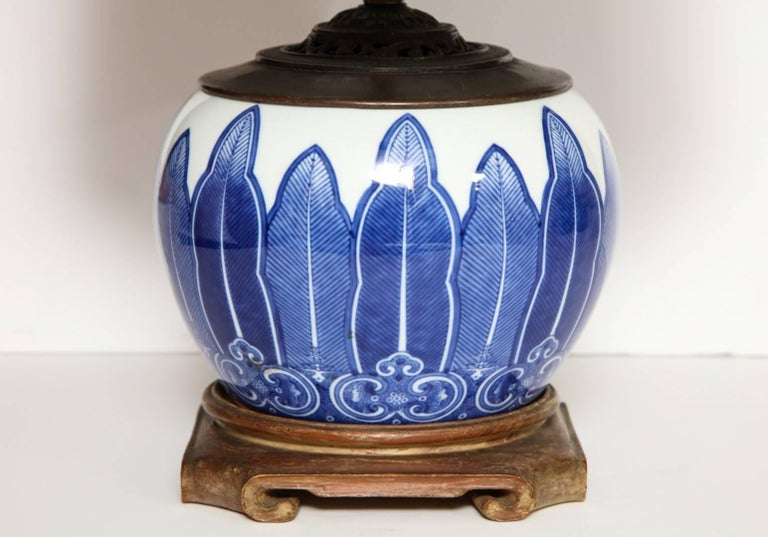 Chinese Porcelain Bowl Fitted as a Lamp 4