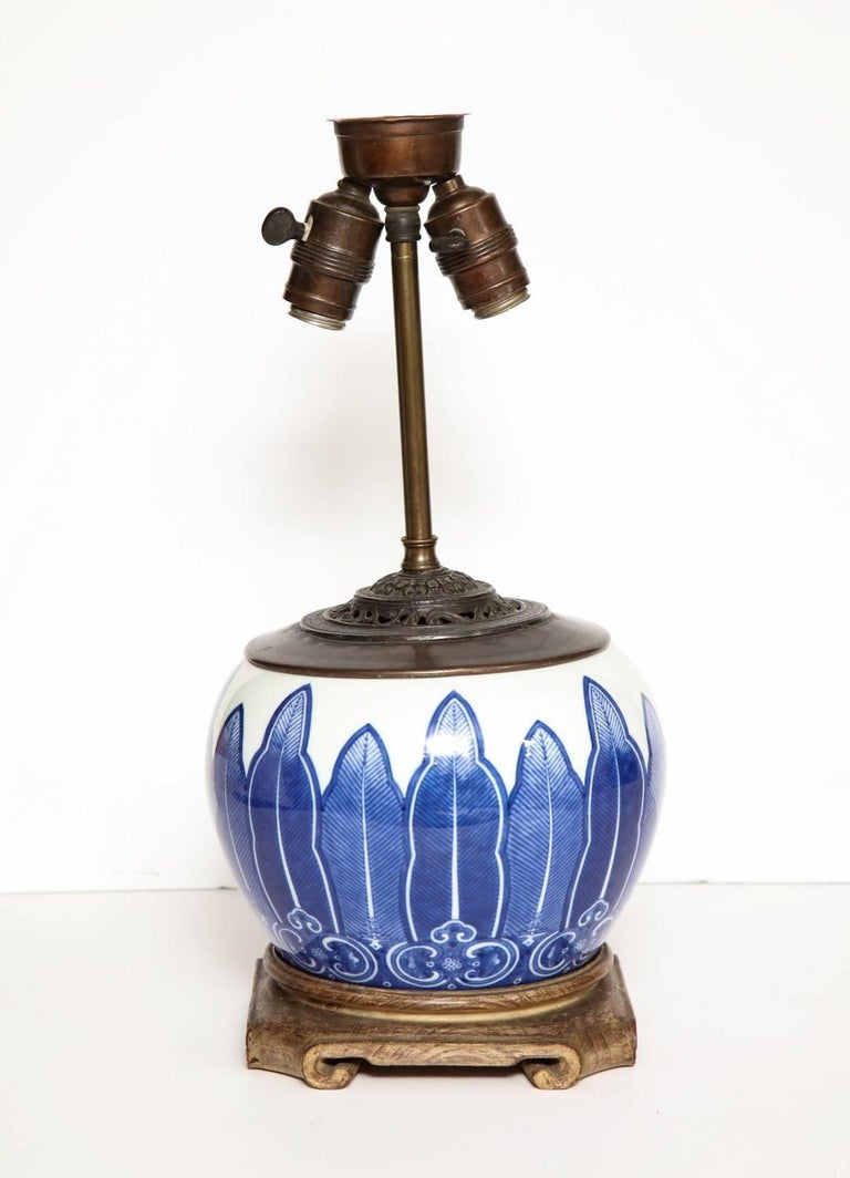 Chinese Porcelain Bowl Fitted as a Lamp 8