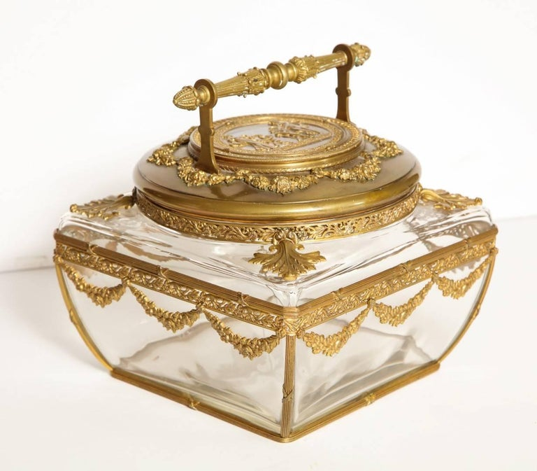 Neo-Classical Style Gilt-Brass Mounted Jewel Casket 2