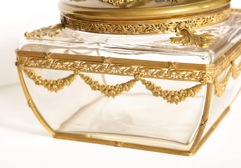 Neo-Classical Style Gilt-Brass Mounted Jewel Casket 3