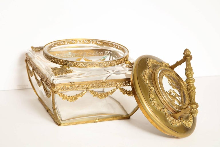 Neo-Classical Style Gilt-Brass Mounted Jewel Casket 6