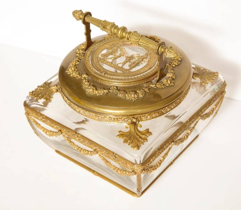 Neo-Classical Style Gilt-Brass Mounted Jewel Casket 9