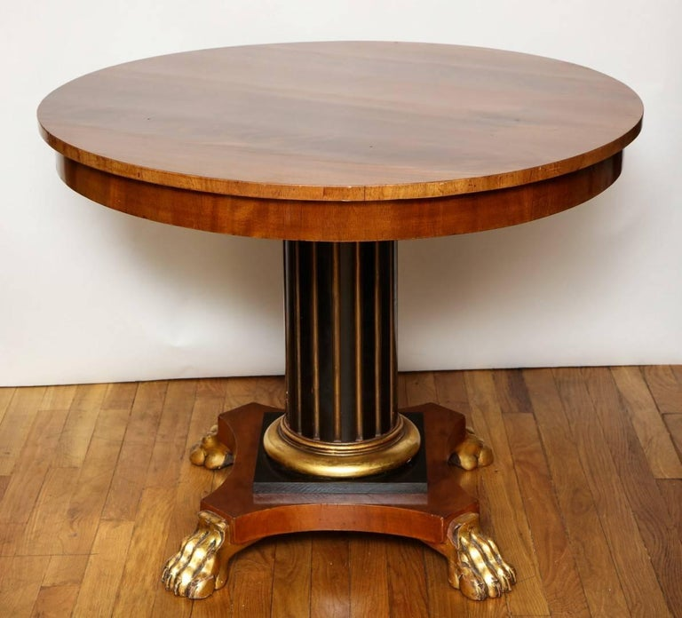 Regency Parcel-Gilt Ebonized Centre Table In Good Condition For Sale In New York, NY