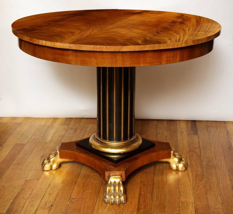 Late 19th Century  Regency Parcel-Gilt Ebonized Centre Table For Sale