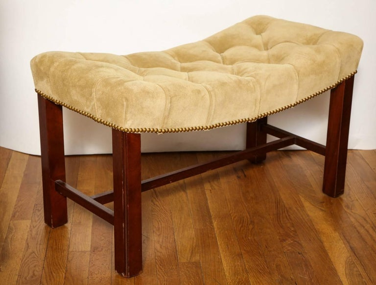 Early 20th Century Pair of Chippendale Style Benches For Sale