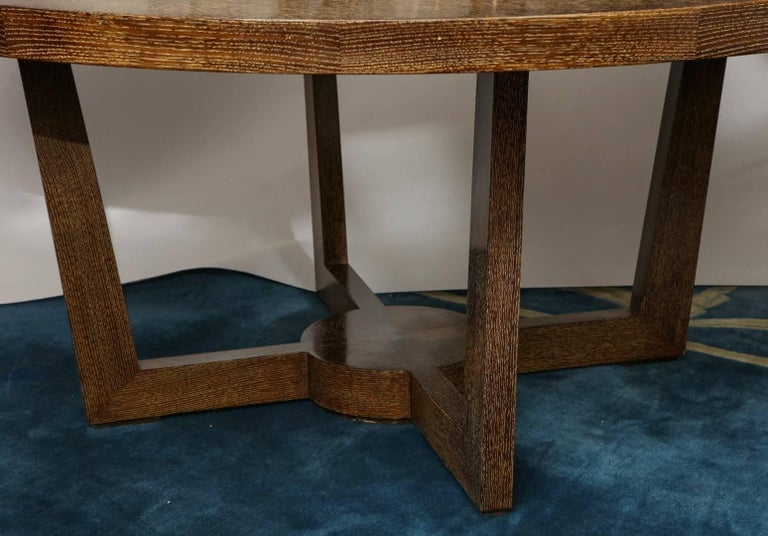A cerused oak dining table.