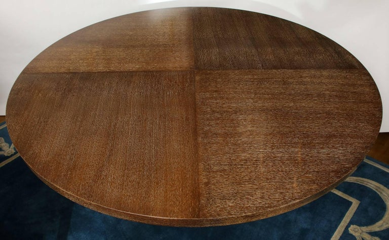 Cerused Oak Dining Table For Sale 1