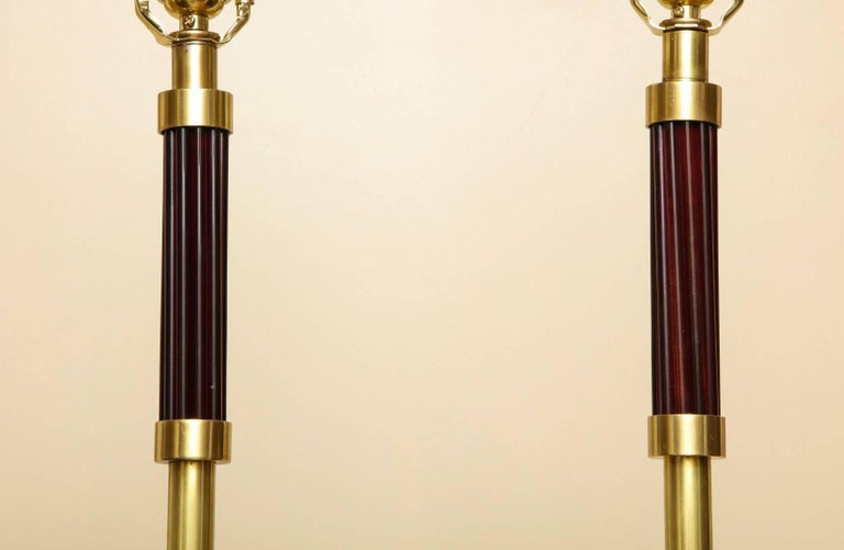 Pair of French Art Deco Standing Lamps In Excellent Condition For Sale In New York, NY