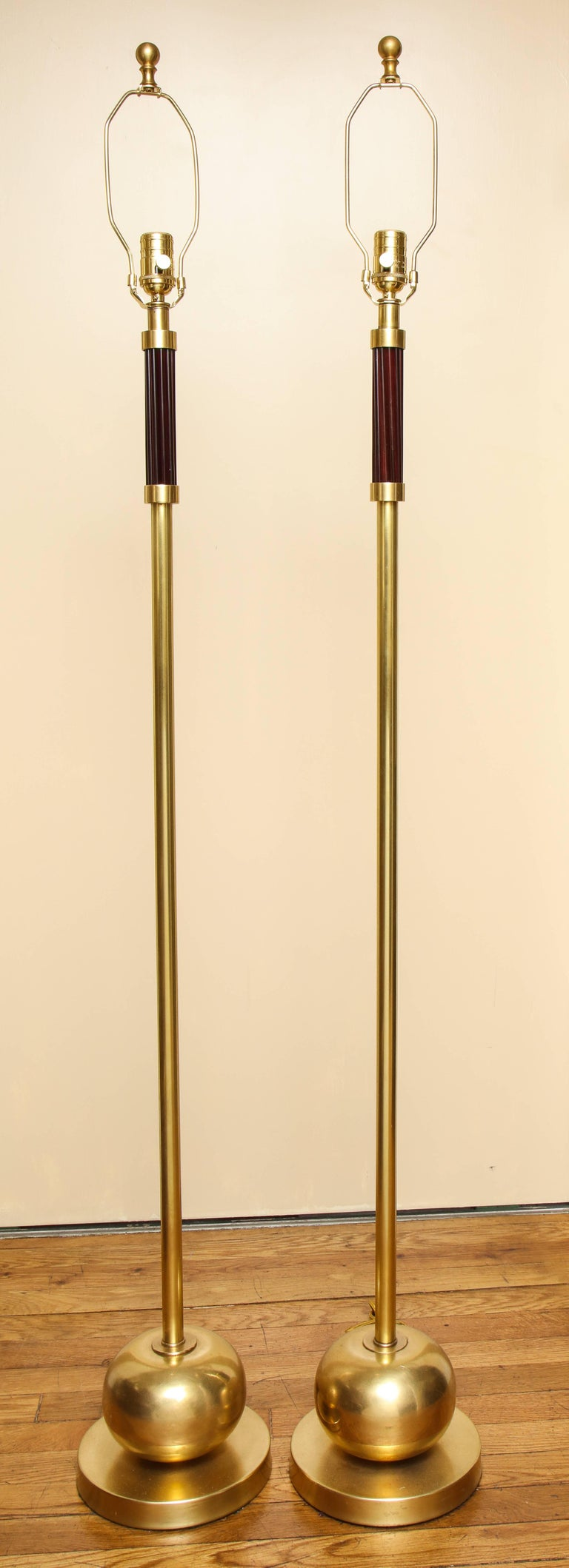 Pair of French Art Deco Standing Lamps 5