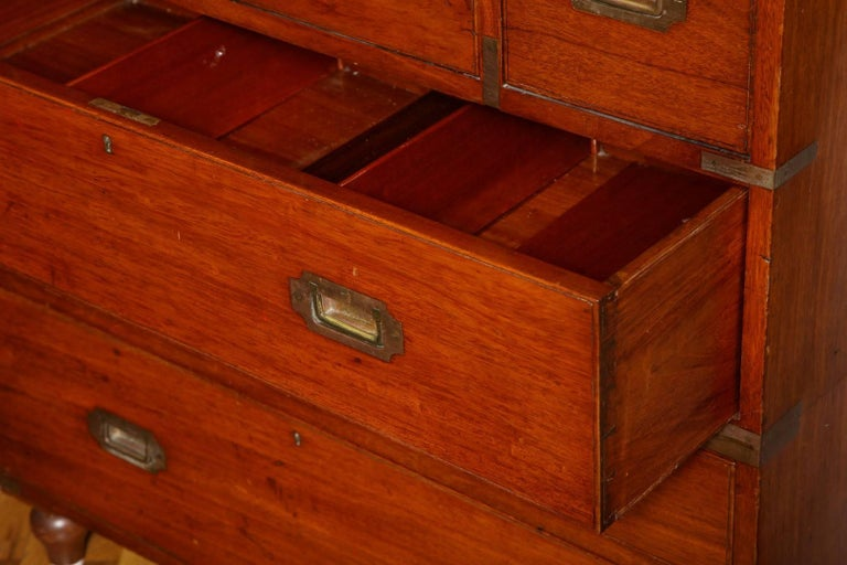 Anglo-Indian Campaign Chest In Excellent Condition For Sale In New York, NY