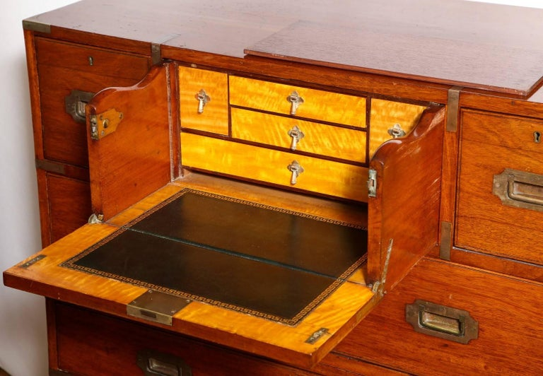 Mid-19th Century Anglo-Indian Campaign Chest For Sale