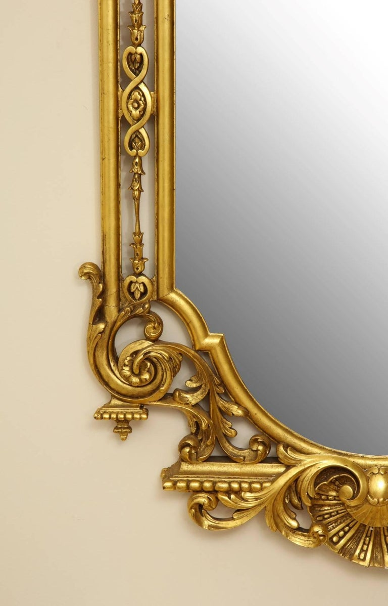George II Style Giltwood Mirror In Excellent Condition For Sale In New York, NY