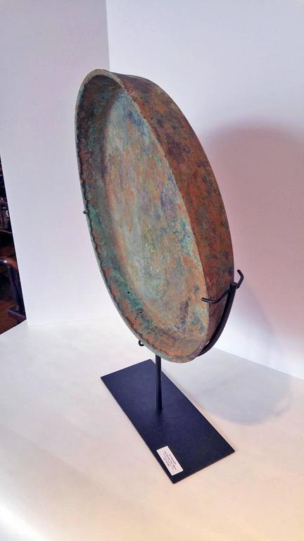 Antique Bronze Tray from Thailand on Stand 4